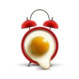 Huevo rojo del despertador Foto de archivo