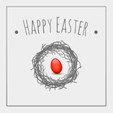 Huevo del rojo de Pascua Imagenes de archivo