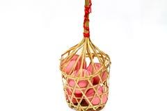 Huevo salado en cesta Imagen de archivo libre de regalías