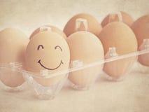 Huevo sonriente fotografía de archivo