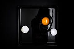 Huevo y cáscara agrietados Fotografía de archivo libre de regalías