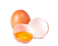 Huevo y cáscara de un huevo Foto de archivo libre de regalías