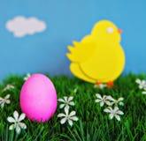 Huevo y Chick Concept de Pascua Fotografía de archivo libre de regalías