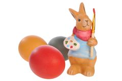 Huevo y conejo de Pascua Fotografía de archivo
