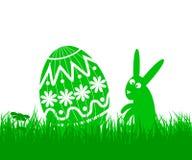 Huevo y conejo de Pascua Imagenes de archivo