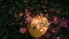 Huevo y corazones de Pascua libre illustration