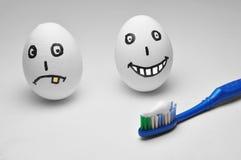 Huevo y dientes fotos de archivo libres de regalías