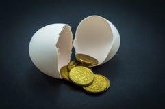 Huevo y dinero Imágenes de archivo libres de regalías