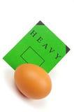 Huevo y escritura de la etiqueta del verde Foto de archivo
