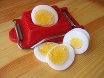 Huevo y máquina de cortar Imagen de archivo libre de regalías
