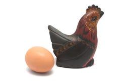 Huevo y pollo Imágenes de archivo libres de regalías