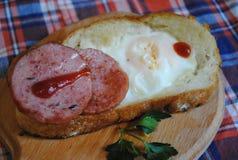 Huevo y tocino para el desayuno Fotos de archivo libres de regalías