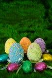 Huevos adornados Fotografía de archivo libre de regalías