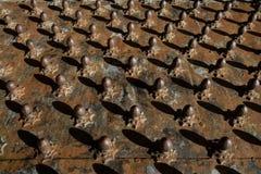 Huevos aherrumbrados metálicos Imagen de archivo
