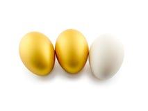 Huevos aislados en el fondo blanco imagen de archivo libre de regalías