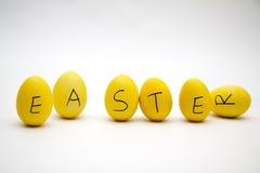 Huevos amarillos de Pascua Fotos de archivo libres de regalías