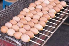 Huevos asados a la parilla Imagen de archivo