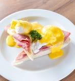 Huevos Benedict Ham Imagen de archivo libre de regalías