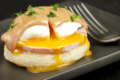 Huevos Benedicto Imagen de archivo libre de regalías