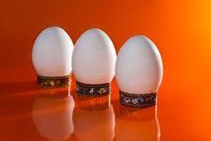 Huevos blancos Imagen de archivo libre de regalías