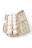Huevos blancos Fotos de archivo libres de regalías