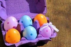 Huevos coloreados Fotografía de archivo libre de regalías