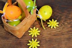 Huevos coloreados Fotografía de archivo