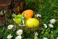 Huevos coloreados Foto de archivo libre de regalías