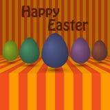 Huevos coloreados fondo del ejemplo del vector stock de ilustración