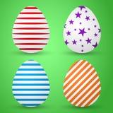 Huevos coloreados fondo del ejemplo del vector Ilustración del Vector