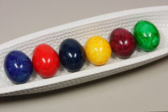Huevos coloridos Foto de archivo