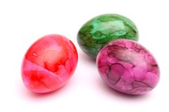 Huevos coloridos Imágenes de archivo libres de regalías