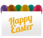 Huevos coloridos pascua fotografía de archivo