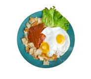 Huevos con chilaquiles Stock Photo