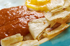 Huevos con chilaquiles Stock Image