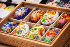 Huevos con el modelo foto de archivo