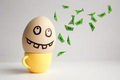 Huevos con la cara pintada Concepto Fotografía de archivo libre de regalías