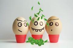Huevos con la cara pintada El concepto Foto de archivo libre de regalías