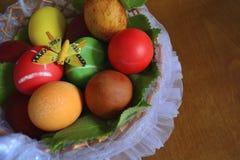 Huevos con la mariposa Fotos de archivo libres de regalías