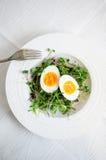 Huevos con los brotes en la placa Imagen de archivo