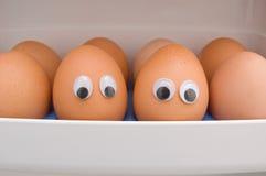 Huevos con los ojos Imágenes de archivo libres de regalías
