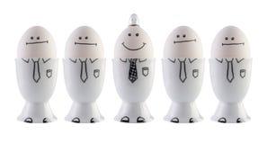 Huevos, concepto de la creatividad. Imagen de archivo libre de regalías