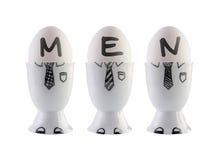 Huevos, concepto del equipo del negocio. Foto de archivo