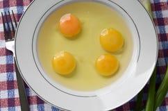 Huevos crudos, Imagen de archivo libre de regalías