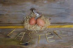 Huevos de Brovn Foto de archivo libre de regalías