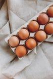 Huevos de Brown Pascua imagenes de archivo