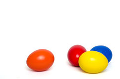 Huevos de Ccolored Pascua Imagenes de archivo