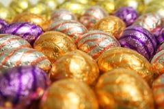 Huevos de Chocolat Pascua Imagen de archivo libre de regalías