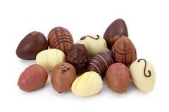 Huevos de chocolate fotografía de archivo