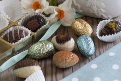 Huevos de chocolate Foto de archivo libre de regalías